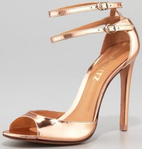 Ankle Strap Gold Sandals