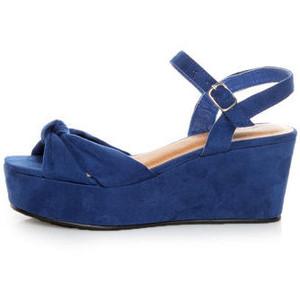 Blue Platform Sandal