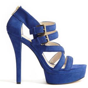 Blue Platform Sandals Images