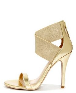 Gold Ankle Strap Sandals Images