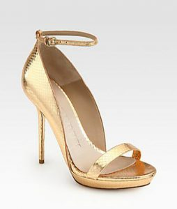 Gold Ankle Strap Sandals Pictures