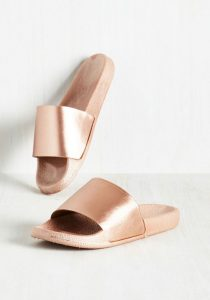 Gold Slide Sandal