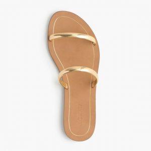 Gold Slide Sandals Images