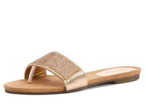 Gold Slide Sandals Photos