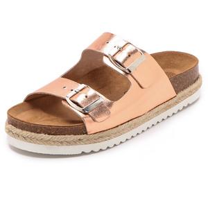 Gold Slide Sandals Pictures