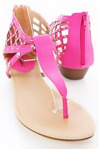Hot Pink Gladiator Sandals