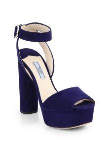 Images of Blue Platform Sandals