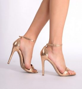 Images of Gold Ankle Strap Sandals