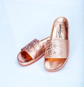 Images of Gold Slide Sandals
