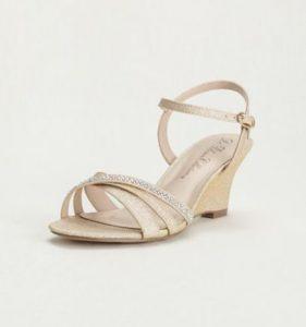 Images of Rhinestone Wedge Sandals
