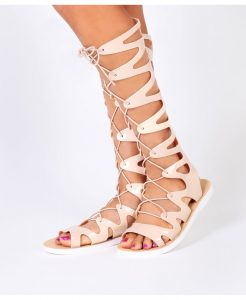 Jelly Gladiator Sandals Knee High
