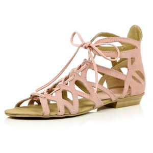 Light Pink Gladiator Sandals