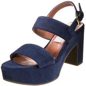 Navy Blue Platform Sandals