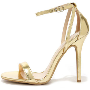 Pictures of Gold Ankle Strap Sandals