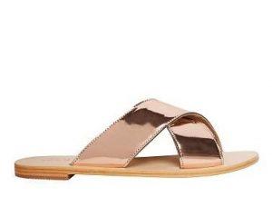 Pictures of Gold Slide Sandals