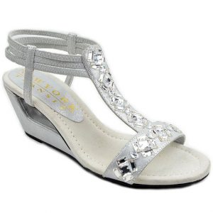 Pictures of Rhinestone Wedge Sandals