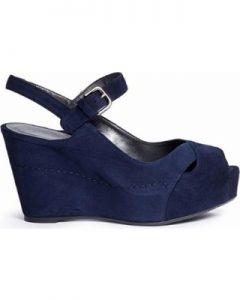 Platform Blue Sandals