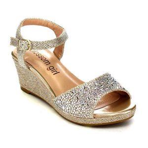 Rhinestone Wedge Sandals Images