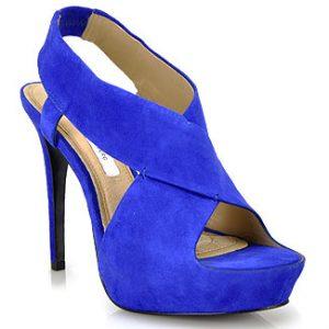 Royal Blue Platform Sandals