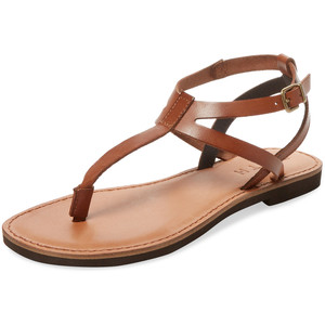 aac8a23f7 Brown Leather Thong Sandals