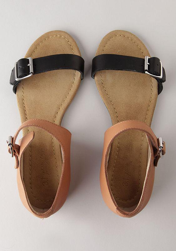 b2299cad9089b Black and Brown Sandals | CraftySandals.com