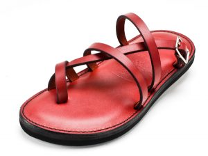Images of Red Leather Sandals