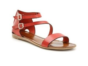 Pictures of Red Leather Sandals