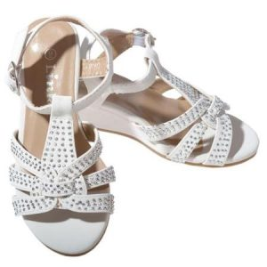 Pictures of White Rhinestone Sandals