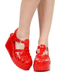 Red Jelly Sandals Images