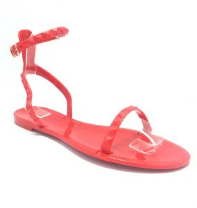 Red Jelly Sandals Pictures