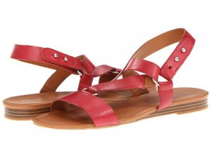 Red Leather Sandals Images