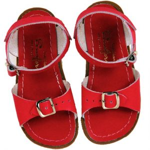 Red Leather Sandals Photos