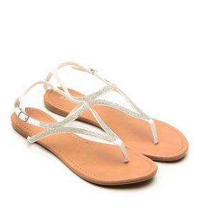 Rhinestone White Sandals
