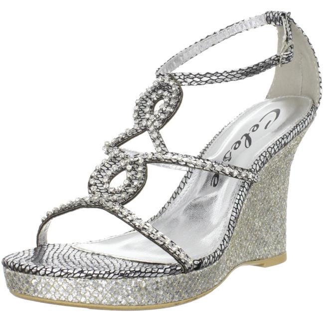 fc20cea878dcbd Silver Rhinestone Wedge Sandals