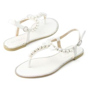 White Rhinestone Sandals