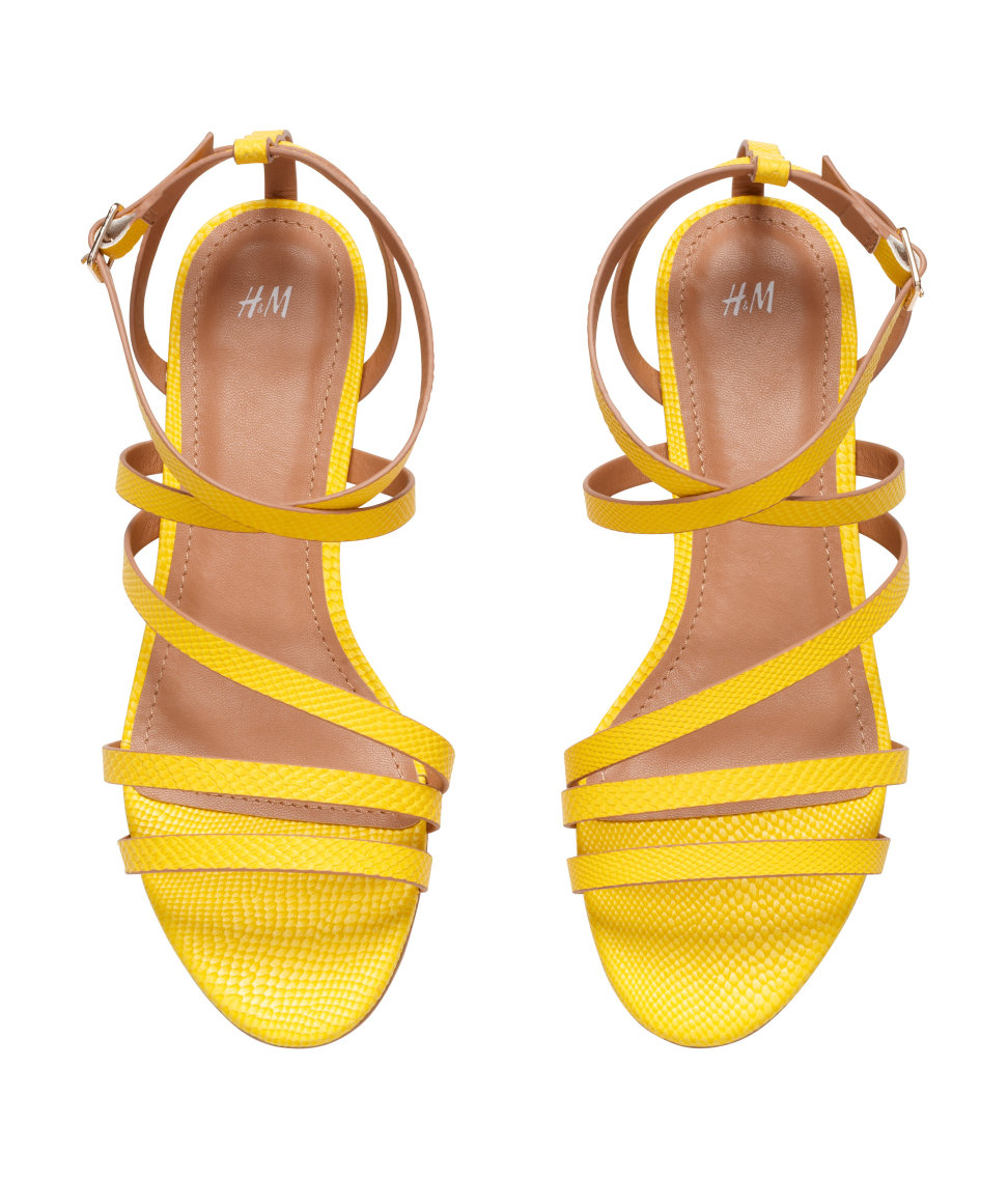 Yellow Strappy Sandals Craftysandals Com