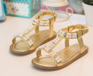 Baby Girl Gold Sandals