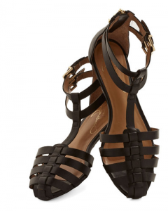 Black Flat Closed Toe Sandals