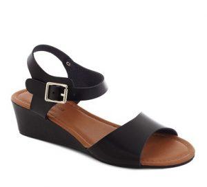 Black Low Platform Sandals