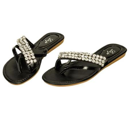 Black Rhinestone Sandals Images