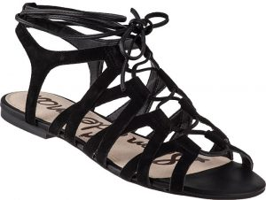 Black Suede Gladiator Sandals