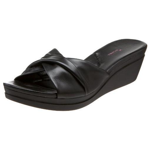 6e01856882ff Black Wedge Slide Sandals