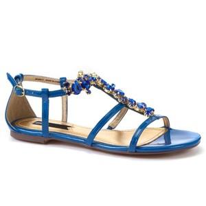 Blue Flat Sandals Images