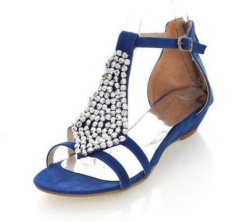 Blue Flat Sandals | CraftySandals.com
