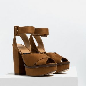 Brown Platform Sandals Pictures