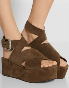 Brown Suede Platform Sandals