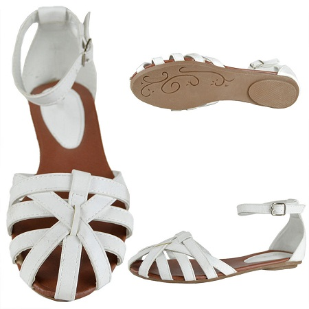 Closed Toe Flat Sandals Crafty Sandals