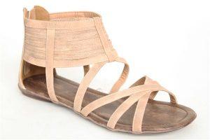 Gladiator Nude Sandals