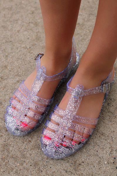 7e577a6c30c3 Glitter Jelly Sandals