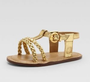 Gold Baby Sandals Images